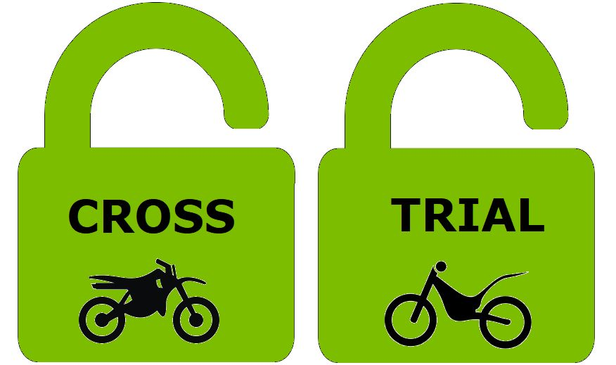 crossbaan open, trialterrein open